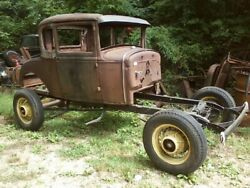 Model A Rolling Chassis 16 Inch Wheels Hot Rat Rod Ford