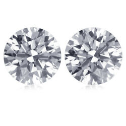0.65 Ct L Vs1 Matching Diamond Pair 4.29 Mm Round Loose For Earrings 29546139