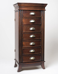 Hives And Honey Hillary Walnut Jewelry Armoire, Large