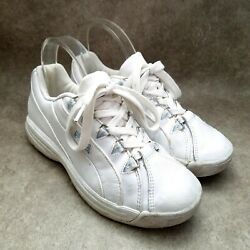 Fila Womens 51x850lx-120 Size 7 White Leather Lace Up Athletic Sneakers