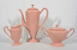 Rare Vintage Discontinued Lenox China Coral 5 Piece Coffee Set Mint