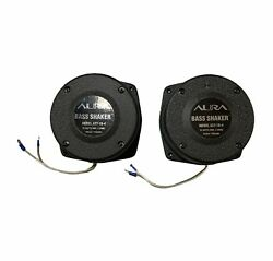 Pair Of Aura Systems Bass Shakers Model Ast-1b-4-speakers Tactile Transducer