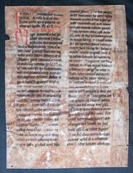 Leaf From A Homilary In Latin ,germany C12th And C13th - 2 Texts Ms Vellum