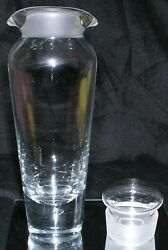 Stromberg Swedish Crystal Decanter Mcm Bubble Bottom Double Pour Spouts Clear