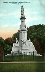 C. 1910 Soldiers Monument In National Cemetery Gettysburg, Pa. Postcard P15