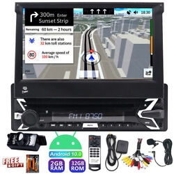 7 Android 10 Single 1din Car Stereo Radio Gps Wifi Dvd Player Touch Screen Fm