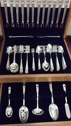 Rogers Eternally Yours Silverplate Set For 12 - Beautiful 117 Pc Set - No Chest