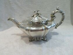 Magnificent 1835 English Sterling Silver Large Potbellied Tea Pot Barnard London