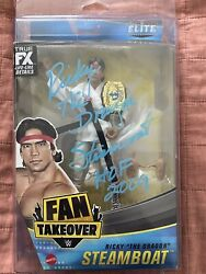 Autographed Ricky The Dragon Steamboat Elite Series Figure Jsa Coa W Protector