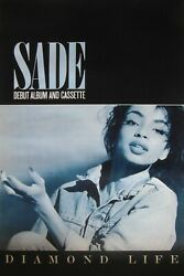 Rare 1984 Sade Large Subway Promotional Poster For The Debut Album And039diamond Life