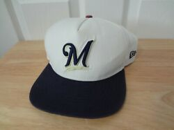 Vintage Mlb Milwaukee Brewers Snapback Hat 90s New Era 9fifty New Nwot S/m
