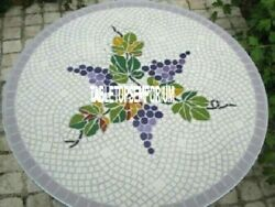 24 Marble Top Coffee Table Grapes Art Inlay Furniture Decorative Christmas Gift