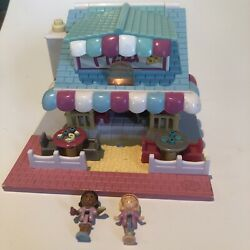 Vintage Polly Pocket Pizzeria Pizza Place Vintage With 1 Doll -light Up