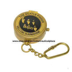 Vintage Antique The Beatle Finder Compass Yellow Submarine Engraved Gift