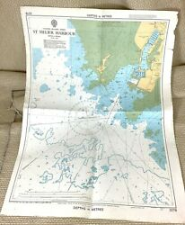 1979 Vintage Maritime Map The Channel Islands St Helier Harbour Jersey Marina