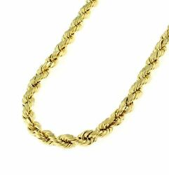 18k Gold 4mm Diamond Cut Rope Chain Necklace Unisex Sizes 18 30 Inch