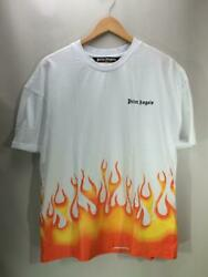 Palm Angels Xl Firestarter Classic White Cotton Tee Shirts 4676 From Japan