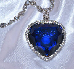 Titanic Rose's Heart Of The Ocean Necklace Movie Prop Replica, New