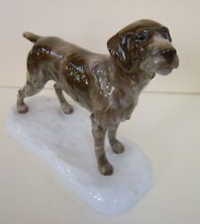 Art Deco Rosenthal Porcelain Figurine German Wire-haired Wirehaired Pointer 830