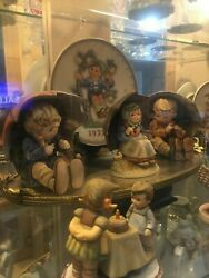45 Piece Lot Of Hummel Plates Dolls And Figurines 2300