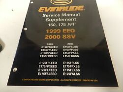 Evinrude Service Manual Supplement 150175 Ffi 1999-2000 Free Priority Shipping