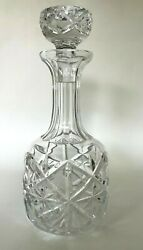 Cut Crystal Decanter Liquor Or Wine Hand Crafted Vintage