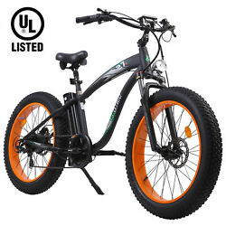Ecotric New 26 750w 48v Electric Bicycle Fat Tire Mountain Batch City Ebike Ul