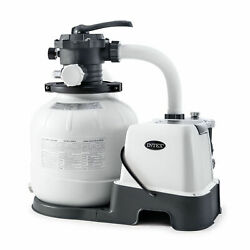 🌊 New Intex 26675eg 14in Krystal Clear Pool Saltwater System And Sand Filter Pump