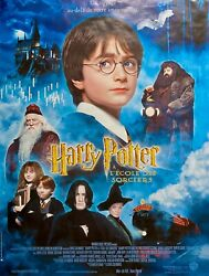 Harry Potter And Pilosopher's Stone Original French Poster 63 X 46 Rolled 2001