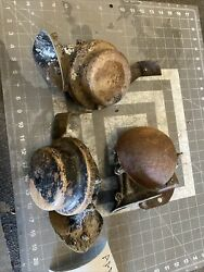 Original 1950and039s Car Truck Low Note Horn Assembly W/ Mounting Bracket Oem Aaa50