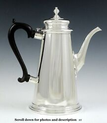 Antique 1920s American Currier Roby Sterling Silver Lighthouse Teapot Coffeepot