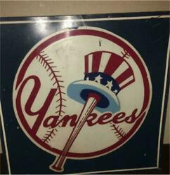 Oversized New York Yankees Signboard Vintage Sign 58 X 58 Hobby Used