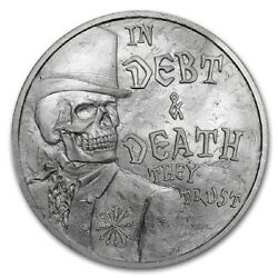 Sbss 2017 Debt And Death V3 Death Of The Dollar 2 1 Oz Silver Round .999