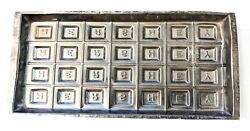 Antique Hershey Tin Chocolate Bar Mold Separate Letters 7.5 X 3.5 Inches