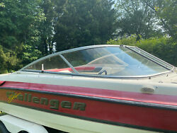 1996 Bayliner Challenger 2180 Xc Ss Right Side Whole Windshield Curved Glass