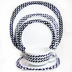Rosenthal Day And Night 6 Piece Place Setting Includes Soup Bowl New Never Used