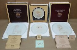 Lot Precious Moments Collector's Plates Mother Sew Dear Play My Drum Rejoicing