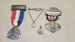 Veterans Of Foreign Wars Of The Us Vfw Medal Ribbon Pins 1949 29th Convention