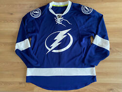 300 Tampa Bay Lightning Authentic Team Jersey Reebok Sz 52 Stanley Cup Champs