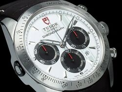 Auth Tudor Watch Fastrider Chronograph 42000 White Black Case42mm Automatic F/s