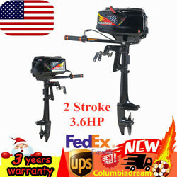 3.6hp 2 Stroke Outboard Motor Boat Engine Water Cooling System Fish Boat Hangkai