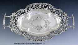 Fab Quality Austrian .800 Silver Pierced Openwork Serving Tray Late 1800s