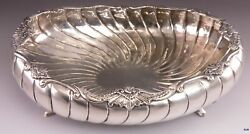 Late 1600s/early 1700s European German Silver Fluted Swirl Footed Bowl