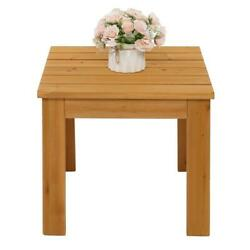 Wooden Square Side Table Living Room Bedroom Furniture Coffee Stand Flower Rack