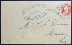 1861 Us Civil War Southbound Across Lines Private Express Louisville-macon Mail