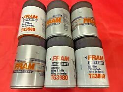 Case Of 6 Engine Oil Filters Fram Tough Guard Tg3980 For Chevrolet,gmc Cadillac