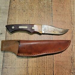 Vintage Schrade Usa 140t Old Timer Fixed Blade Knife W/ Leather Sheath
