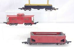 3 American Flyer Trains 717 Log Dump, 716 Whole Dump, And 630 Caboose S Scale