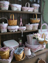 Huge Collection Of Longaberger Horizon Of Hope Baskets Some Signed And Extras