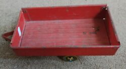 Vintage Mettoy Red Tin Plate Trailer For Tractor 1950s Metal Farm Toy Made Gb